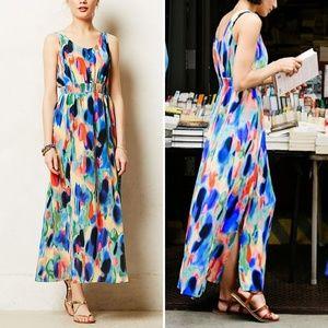 Anthropologie Maeve Aloisia Watercolor Maxi Dress